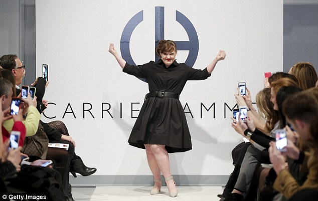Jamie Brewer at the New York Fashion Week
