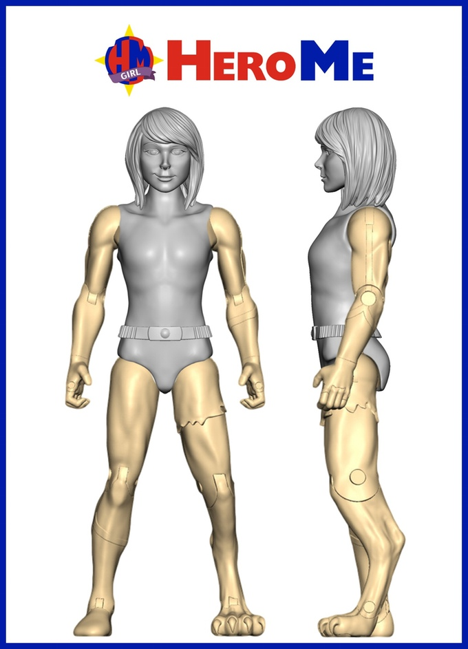 HeroMe female action figure