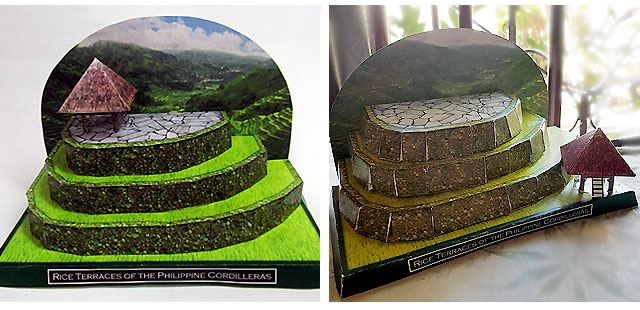 NCCA Paper Craft Rice Terraces na inaasahang kumpara sa aktwal na