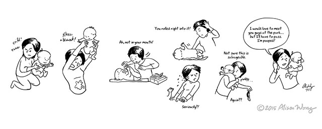 New Mom Comics by Alison Wong