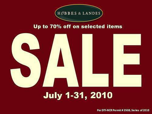 Hobbes &  Landes sale