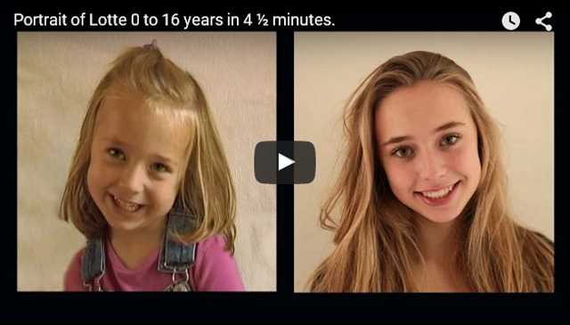 This Made Our Day: Documenting A Child's 16 Years of Life in 4 Minutes