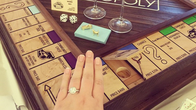 This Man Proposed to His Girlfriend with a Personalized Monopoly Set with a Hidden Secret Inside
