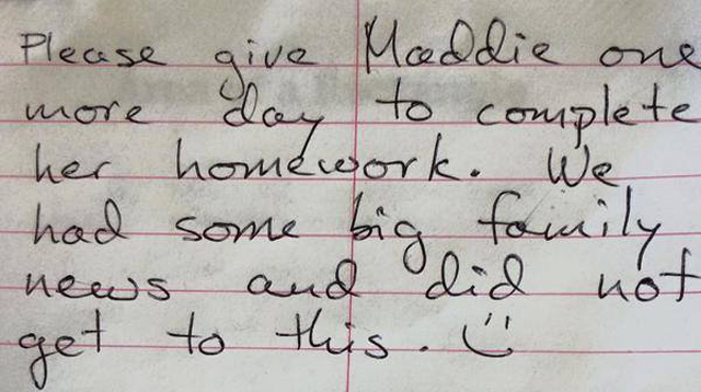 This Girl Has the Best Excuse to Get Out of Homework That Teachers Can't Say No To