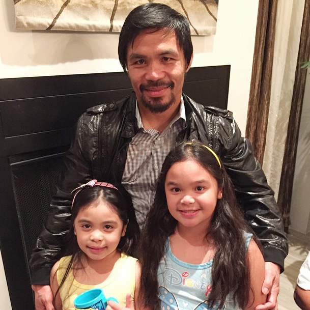Top of the Morning: Pacquiao Daughters Don't Want Manny to Fight Mayweather Again