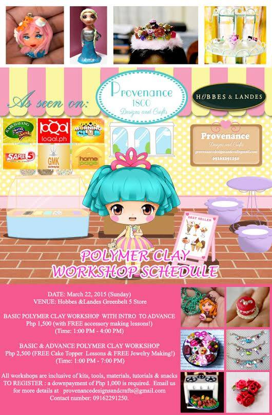 Polymer Clay Workshop poster