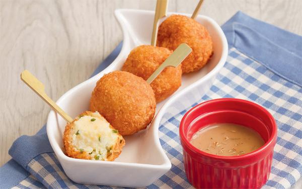 Potato Balls with Cheesy Centers