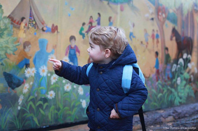Prince George in preschool
