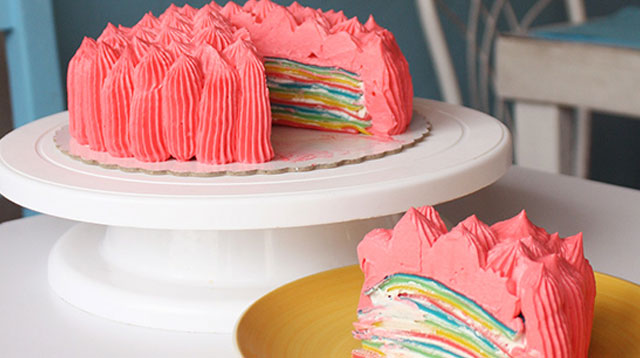 This Rainbow Crepe Cake Will Cheer You Up on Gloomy Days