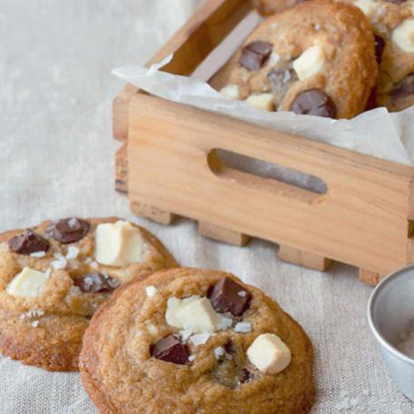 Weekend Recipe: Double Chocolate Chip Cookies with Flaky Sea Salt