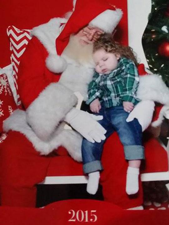 Santa child with epilepsy