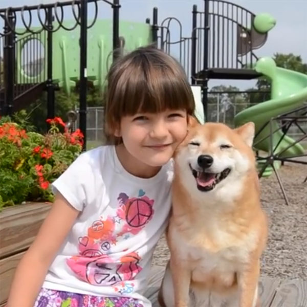 This Made Our Day: This Happy Dog Enjoying the Playground with Her 7-Year-Old Owner