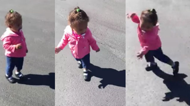 This Made Our Day: This Adorable Little Girl is Scared of Her Own Shadow