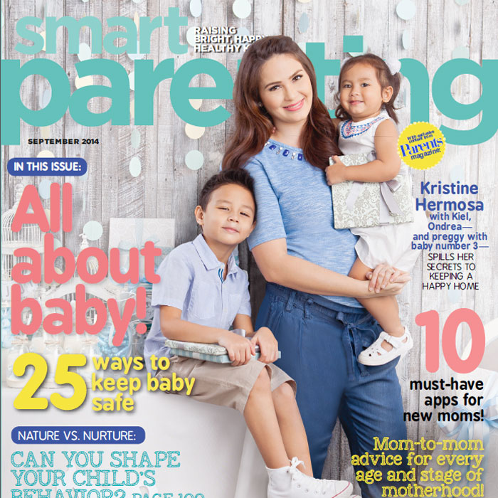 Kristine Hermosa Graces our September Issue with Kiel, Ondrea and Baby #3!