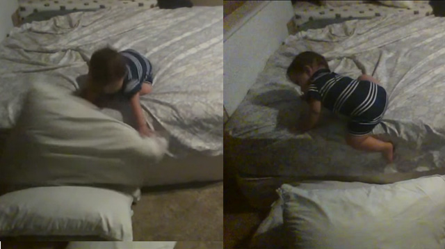 This Made Our Day: Smart Baby Finds a Way to Safely Climb Off the Bed