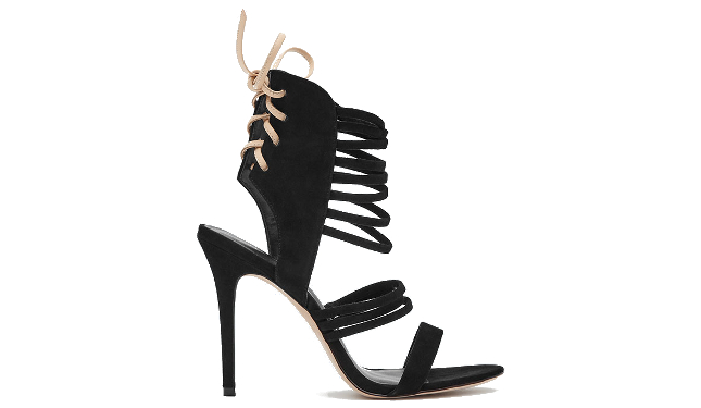 Reiss Sabine Suede Strappy Heeled Sandals
