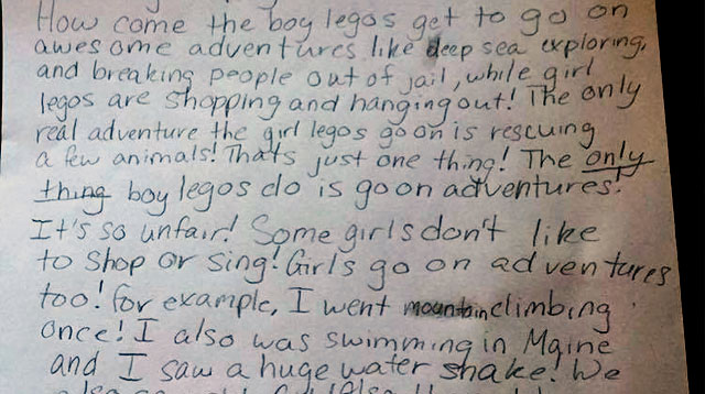 "This Girl Wrote To Lego Asking For More ""Daring Girl Adventures"""