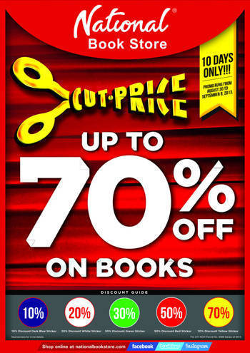 National Bookstore Cut-Price Sale