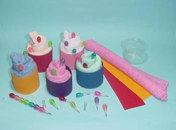 towel cupcakes