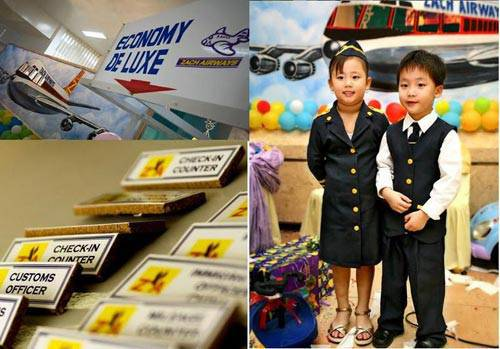 airline birthday party theme