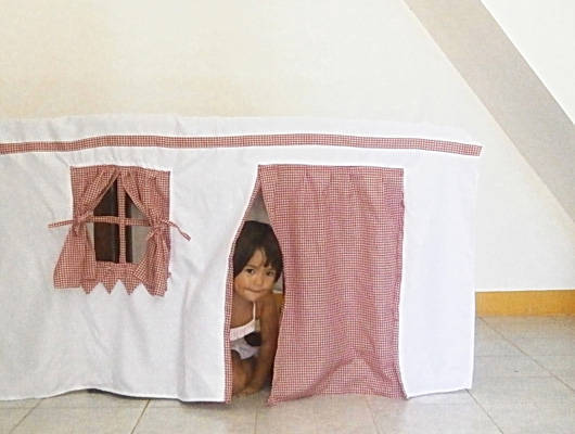 real gingham playhouse