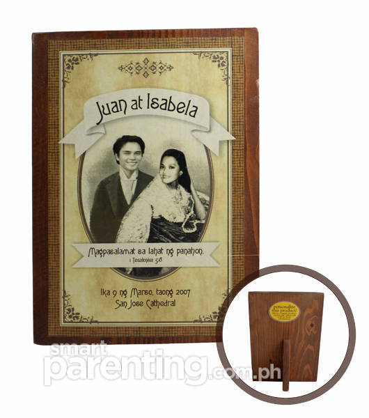 Juan at Isabela Wooden Photo Frame