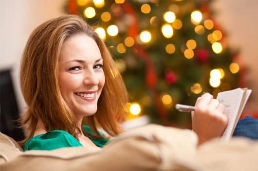 happy woman Christmas