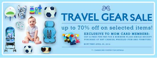 Baby Company travel gear sale
