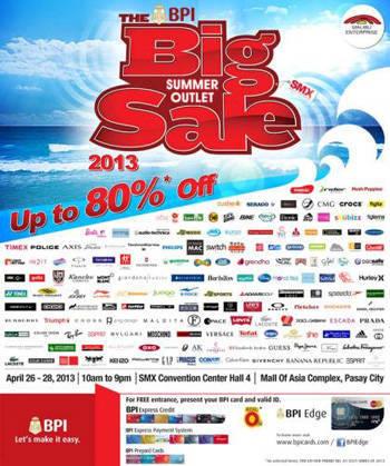 BPI Summer Outlet Sale 2013