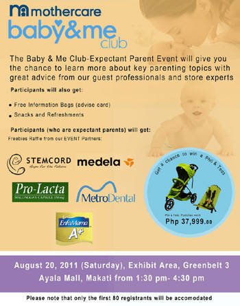 The Baby & Me Club Parent Event