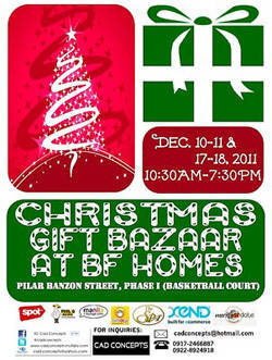 Christmas Gift Bazaar at BF Homes