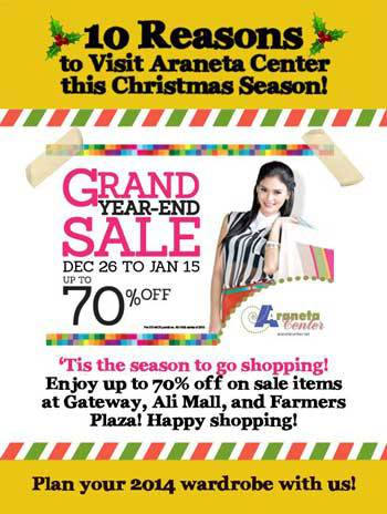 Araneta Center Grand Year-End Sale