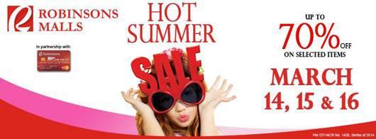 Robinsons Malls Hot Summer Sale
