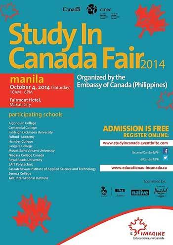 Study in Canada Fair 2014