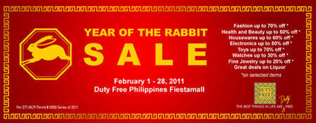 Duty Free Year of the Rabbit Sale