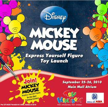 Mickey Mouse Express Yourself Toy Figure Toy Launch