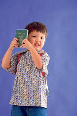 kid with passport