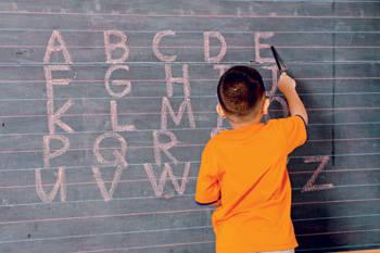 boy blackboard