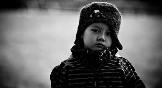 kid black and white