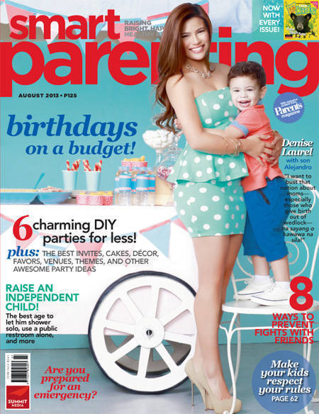 Smart Parenting August 2013 Denise Laurel