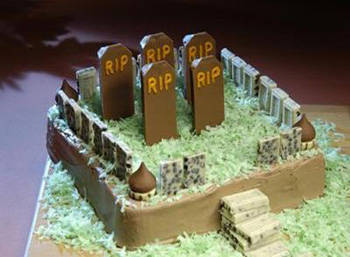 HERSHEY'S Brownie Cemetery Cake