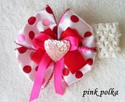 Pink Polka Bow