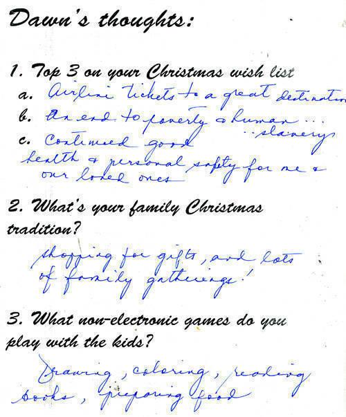 Dawn Zulueta questionnaire