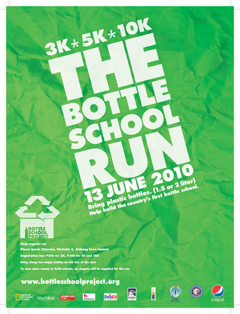 Bottle School Project poster