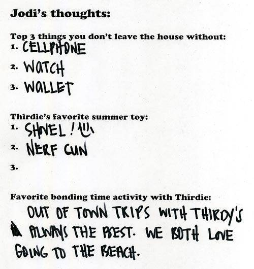 Jodi's answers