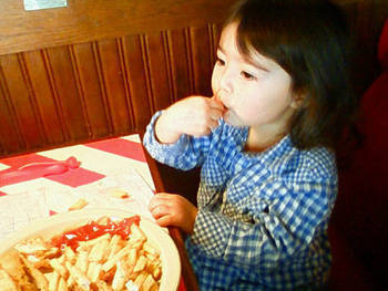 girl french fries