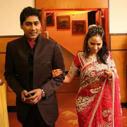 Indian newlyweds