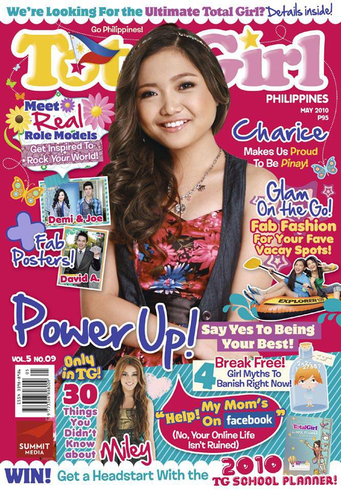 Total Girl May 2010 cover with Charice Pempengco