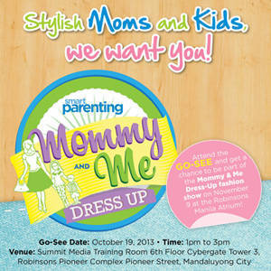 Be Models for a Day with Smart Parenting's Mommy & Me Dress-Up