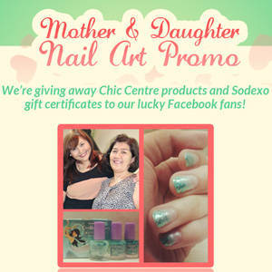 Nails by Chic Centre: Mother & Daughter Nail Art Promo